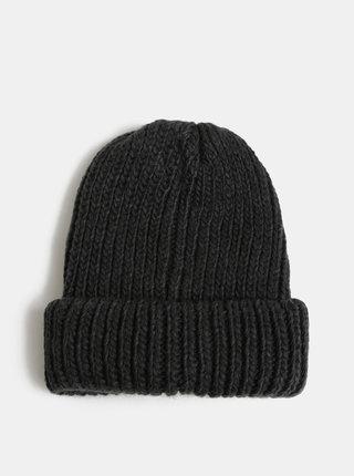 Tmavosivá pletená čiapka Pieces Flava