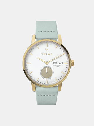 Dámské hodinky s mentolovým koženým páskem TRIWA Ivory Svalan