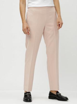 Svetloružové nohavice s vysokým pásom DKNY Foundation