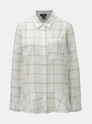Bílá kostkovaná košile DKNY Button