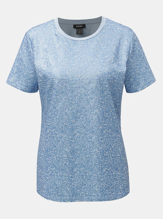 Modré tričko s flitry DKNY Sequin