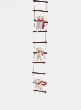 Vianočná závesná dekorácia s myškami Sass & Belle Ladder Climbing Mice