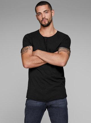 Čierne basic tričko Jack & Jones Bas