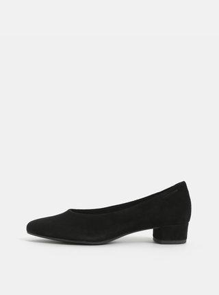 Pantofi negri din piele intoarsa cu toc mic Vagabond Alicia