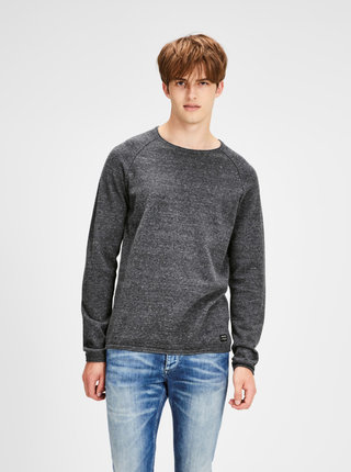 Pulover gri inchis melanj Jack & Jones Union