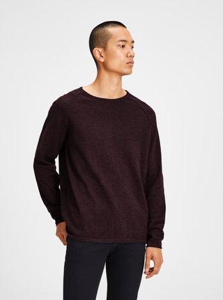 Vínový melírovaný sveter Jack & Jones Union