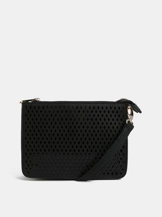Čierna vzorovaná crossbody kabelka Bessie London