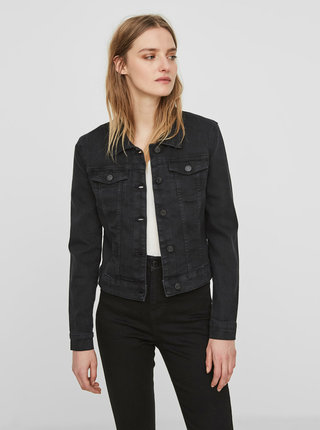 Jacheta scurta neagra din denim - Noisy May Debra