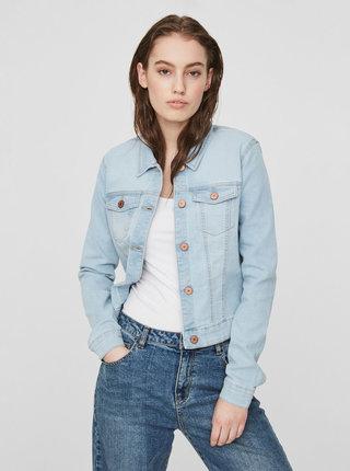 Světle modrá krátká džínová bunda Noisy May Debra