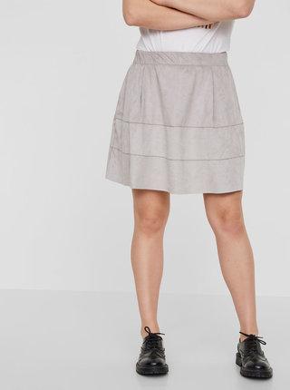 Svetlosivá sukňa v semišovej úprave Noisy May Lauren
