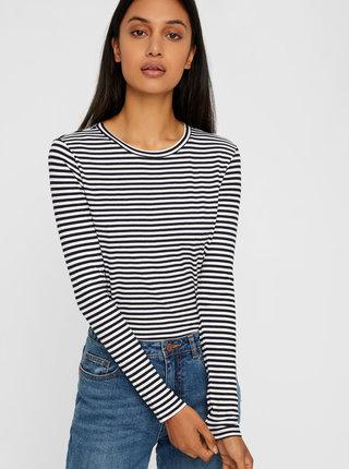 Černo-bílé pruhované basic tričko Noisy May Melse