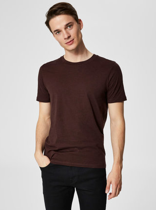 Vínové basic tričko Selected Homme The Perfect