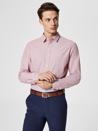 Camasa roz slim fit Selected Homme