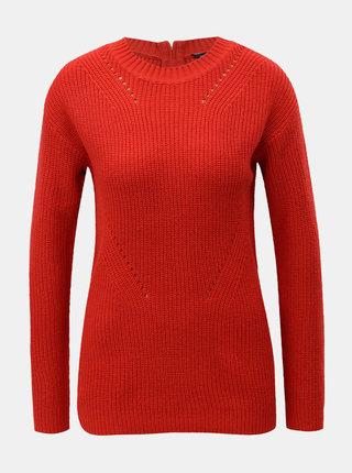 Červený svetr se zipem na zádech Dorothy Perkins