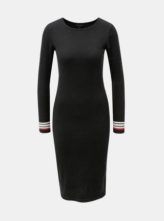 Čierne svetrové puzdrové šaty Dorothy Perkins