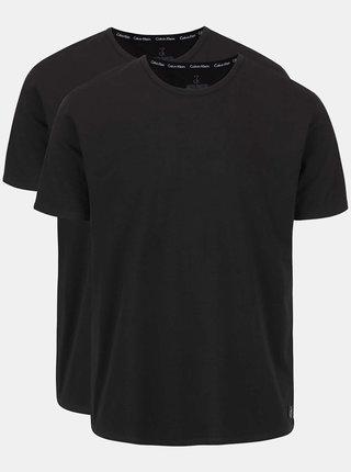 Set de doua tricouri basic negre - Calvin Klein Underwear