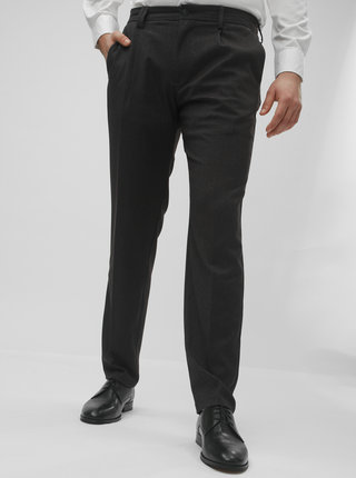 Pantaloni gri inchis cu model regular fit Jack & Jones Cody