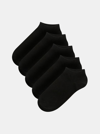Set de 5 perechi de sosete scurte negre Jack & Jones Dongo