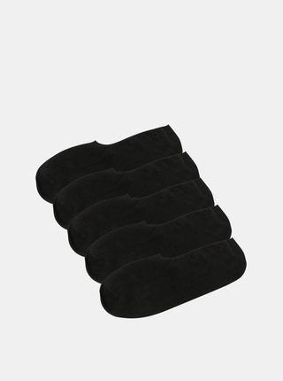 Set de 5 perechi de sosete scurte negre cu albe pentru barbati - Jack & Jones Basic