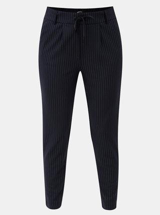 Tmavomodré skrátené nohavice s vysokým pásom ONLY Poptrash
