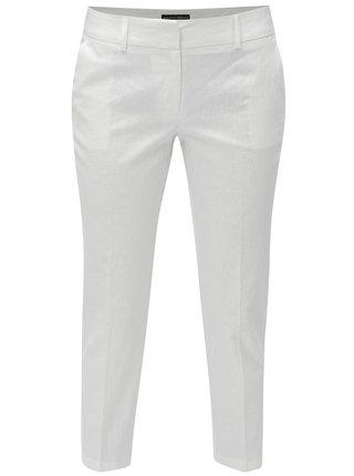 Pantaloni albi crop plisati din in Dorothy Perkins