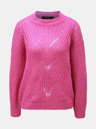 Tmavě růžový svetr VERO MODA Wishi
