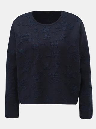 Tmavě modrý volný svetr s metalickým vláknem ONLY Molise