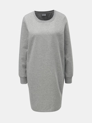 Svetlosivé mikinové šaty s metalickým vláknom ONLY Luna