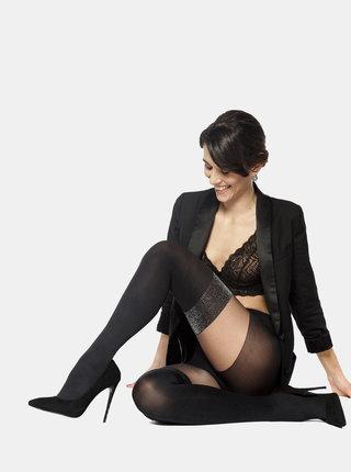 Černé punčochové kalhoty se třpytivým detailem Andrea Bucci Mock Hold Up 70 DEN