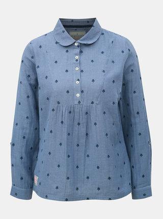 Modrá pruhovaná dámska blúzka s drobnou výšivkou Brakeburn