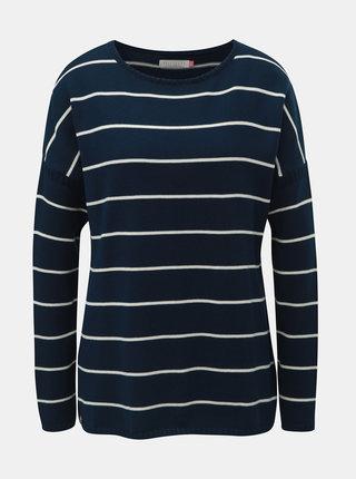 Tmavomodrý dámsky pruhovaný basic sveter Brakeburn