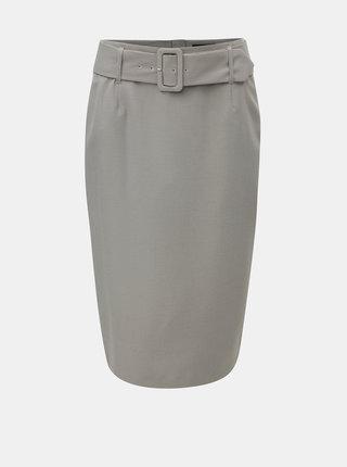 Šedá kostkovaná pouzdrová sukně s páskem Dorothy Perkins
