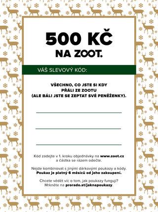 Vánoční elektronický poukaz na ZOOT v hodnotě 500 Kč