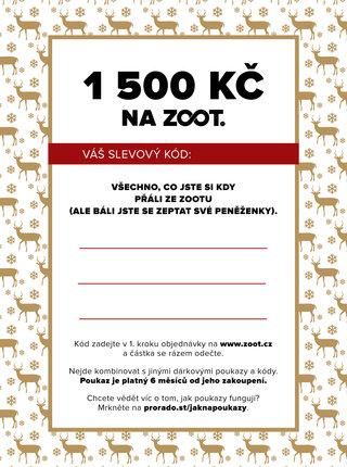Vánoční elektronický poukaz na ZOOT v hodnotě 1500 Kč