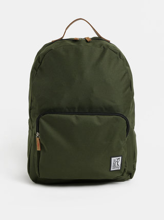 Rucsac verde inchis cu buzunar in fata The Pack Society