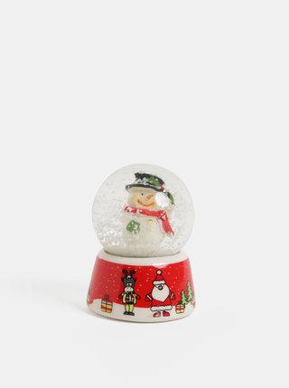 Červené sněžítko s motivem sněhuláka Kaemingk
