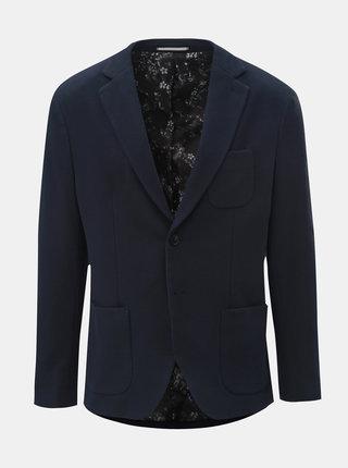 Tmavomodré slim sako s náprsným vreckom Selected Homme Hale