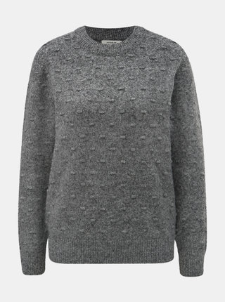 Šedý svetr s plastickým vzorem Jacqueline de Yong Dotta