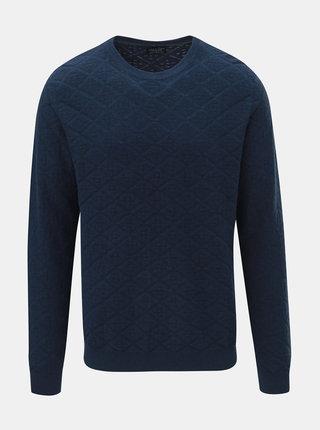 Modrý kostkovaný lehký svetr Jack & Jones Boston