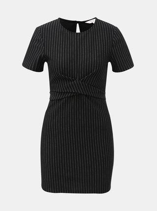 Čierne pruhované šaty Miss Selfridge Petites