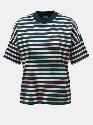 Růžovo-zelené pruhované tričko Jacqueline de Yong Maike