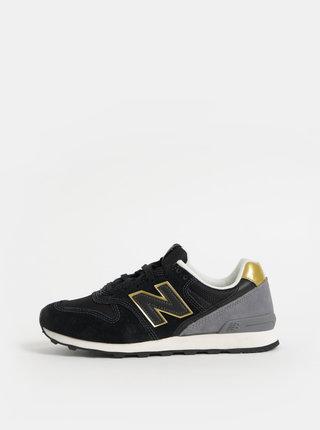 Pantofi sport negri de dama din piele intoarsa New Balance 996
