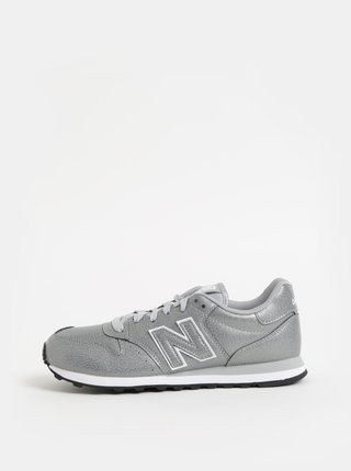 Dámske tenisky v striebornej farbe New Balance 500