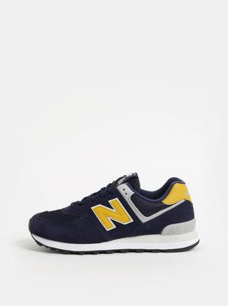 Modré pánske semišové tenisky New Balance 574