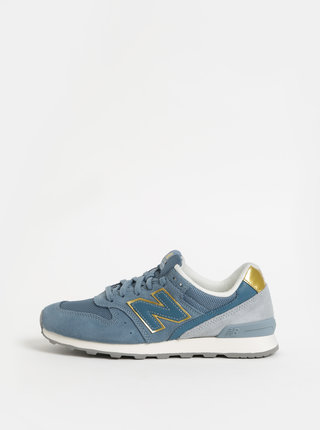 Pantofi sport albastru deschis de dama din piele intoarsa New Balance 996