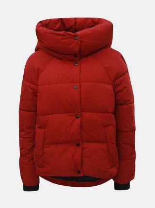 Červená zimní prošívaná bunda ONLY Mari