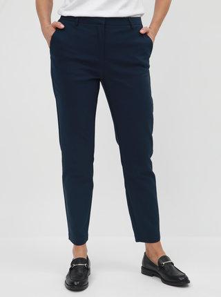 Tmavomodré kostýmové nohavice VILA Delia