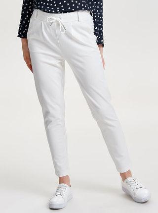 Pantaloni albi ONLY Poptrash