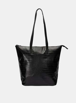 Geanta pentru shopping neagra cu model crocodil VERO MODA Kiwa