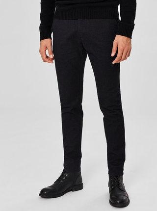 Pantaloni negri melanj slim fit Selected Homme